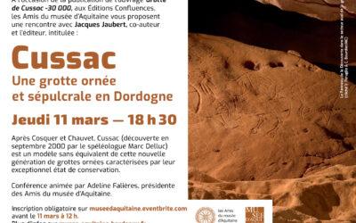 """Conférence en ligne """"Cussac, une grotte ornée en Dordogne"""""""